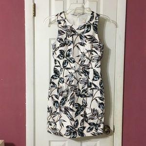 J Crew A5222 Printed Textured Cotton Dress Sz 2